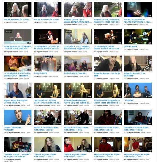 Super Arte Videos Entrevistas