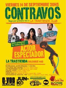"""CONTRAVOS: nuevo video clip """"Sensacion"""" y show en La Trastienda"""